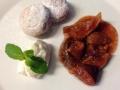 Domácí koblížky s fíkovým ragout a vanilkovým mascarpone