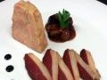 Terina z kachních foie gras, doplněná uzenými kachními prsíčky a domácí fíkovou marmeládou