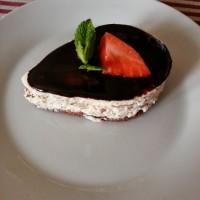 Tvarohovo - čokoládový dortík