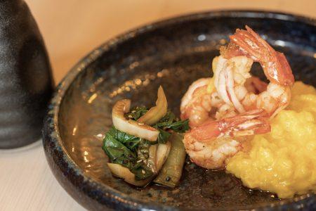 Šafránové risotto, červené argentinské krevety1